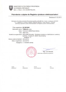 Potvrdenie-o-zápise-do-Registra-výrobcov-elektrozariadení